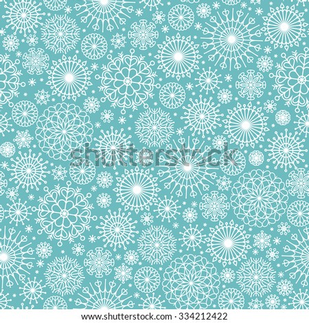 Snowflakes Seamless Pattern - stock vector