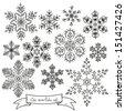 Snowflakes set.  - stock