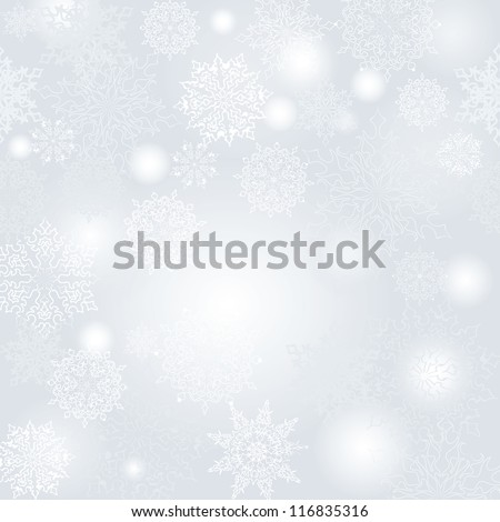 snowflakes vector background - stock vector