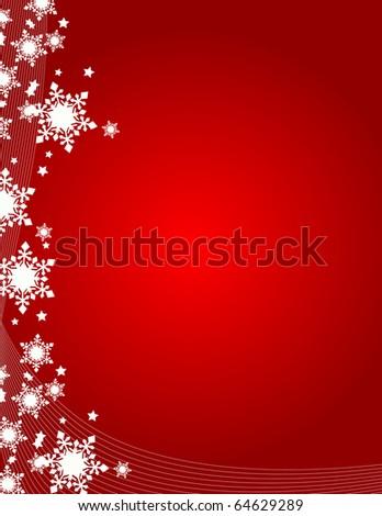 snowflakes vector illustration art - stock vector