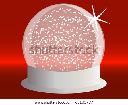 Snowglobe on a Silver Base with Falling Snow