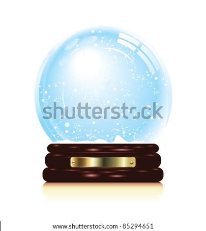 Snowglobe vector. - stock vector