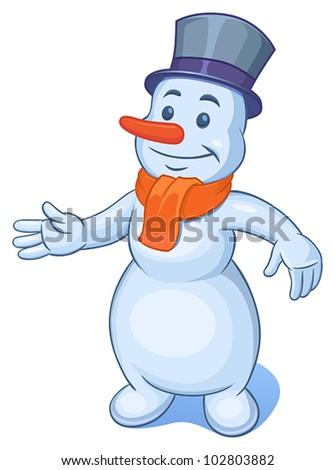 snowman - stock vector