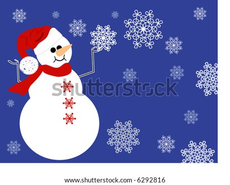 snowman background - stock vector