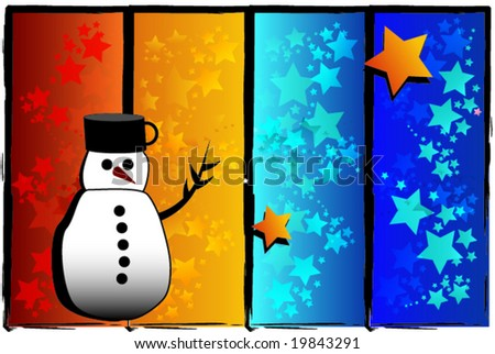 Snowman for christmas background.