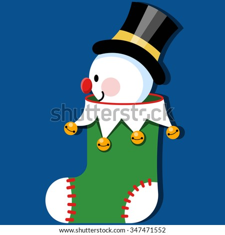 Snowman in Christmas Stocking