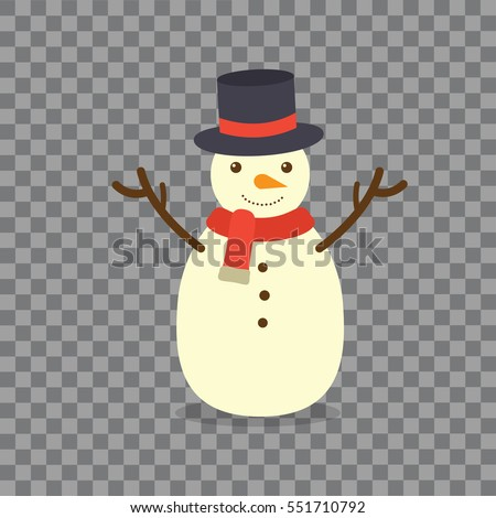 Snowman on background.