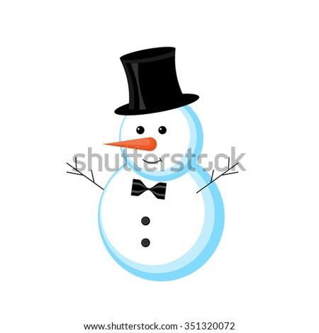Snowman vector illustration  - stock vector