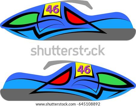 Vehicle Graphics Stripe Vinyl Ready Vector Stock Vector - Vinyl stripes for motorcycles
