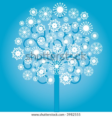 snowtree vector (like my Cindy's) - stock vector