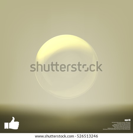 Soap bubble stock vector icon illustration design