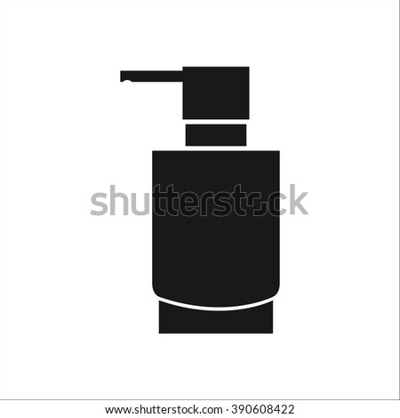 Soap dispenser simple icon on colorful white background