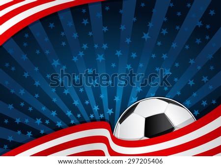 Soccer America Background - stock vector