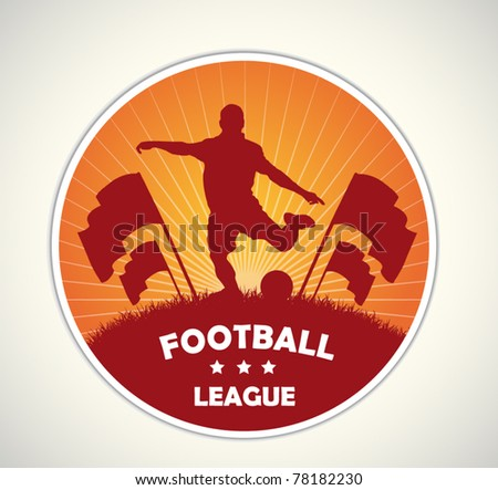 soccer badge and emblem - stock vector