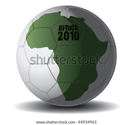 Soccer Ball Africa 2010 vector drawing - stock vector