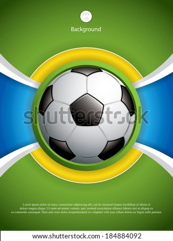 Soccer ball background.Vector - stock vector