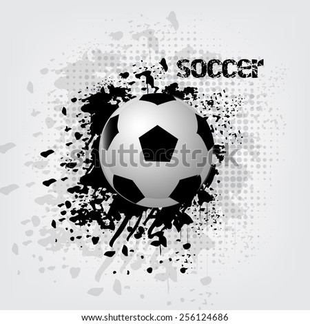 Soccer ball background with grunge effect/vector illustration - stock vector