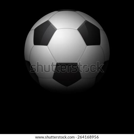 Soccer ball dark background. Vector EPS10 illustration.  - stock vector