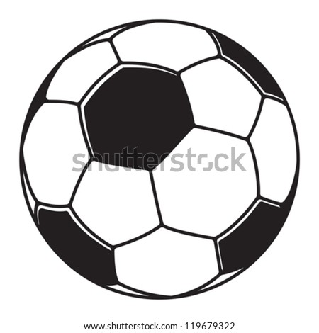 Soccer ball, football ball - stock vector