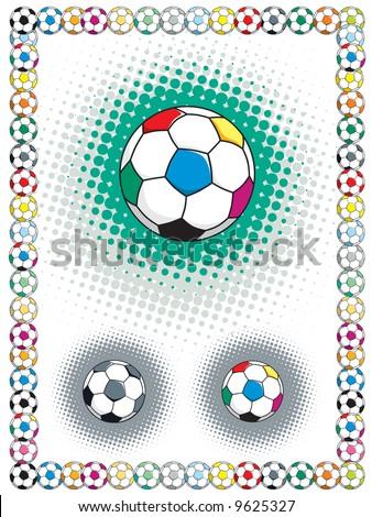 Funky Soccer Photo Frames Motif - Picture Frame Design - stoneyville.net