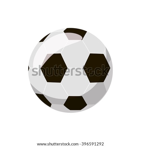 Soccer ball icon - stock vector