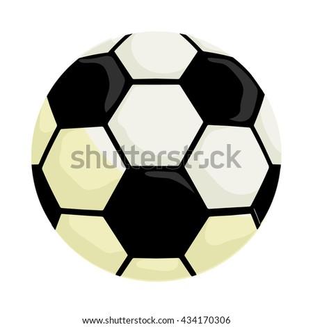 Soccer ball icon, cartoon style - stock vector