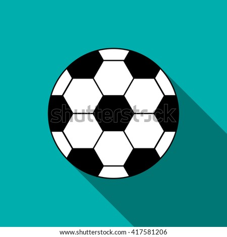 Soccer ball icon in flat style  - stock vector