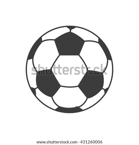 Soccer ball icon. Soccer ball Vector isolated on white background. Flat vector illustration in black. EPS 10 - stock vector