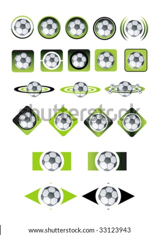 Soccer ball icons vector illustration - stock vector