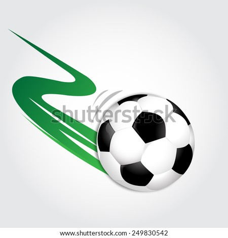 Soccer ball in motion on a gray background vector illustration - stock vector