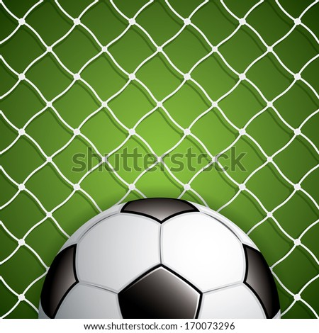 Soccer ball in net.Vector - stock vector