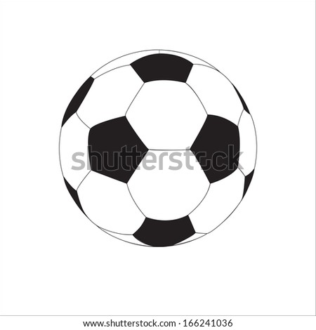 soccer ball isolated on the white background - stock vector