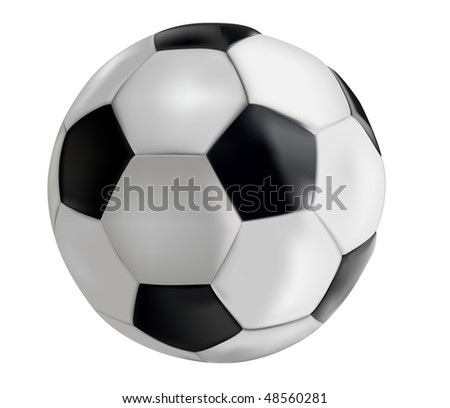 Soccer-ball isolated on white background