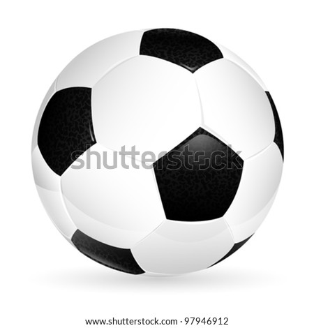Soccer ball isolated on white, element for design, vector illustration - stock vector