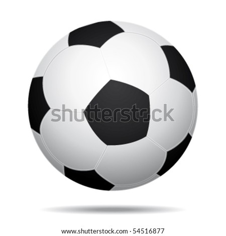 Soccer ball isolated with shadow. Vector icon. - stock vector