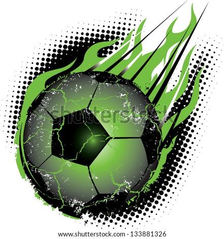 Soccer Ball Meteor - stock vector
