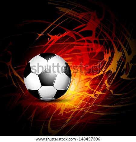 Soccer ball on fire - stock vector