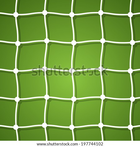 Soccer ball on green background poster design with place for text. - stock vector