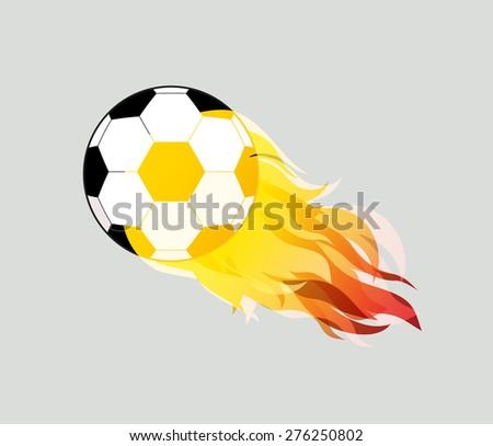 soccer ball on white background eps10 illustration - stock vector