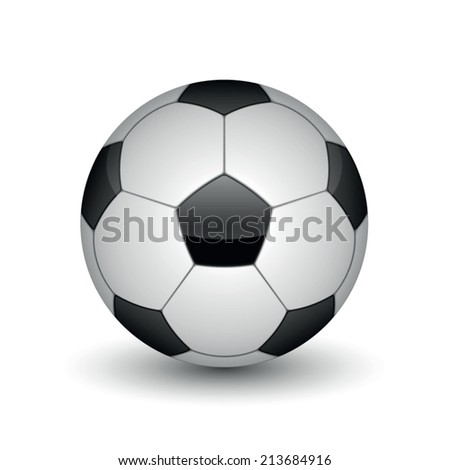 soccer ball on white background.vector illustration - stock vector
