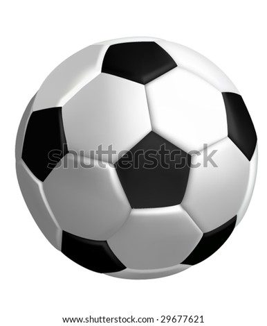 Soccer ball or football vector - stock vector