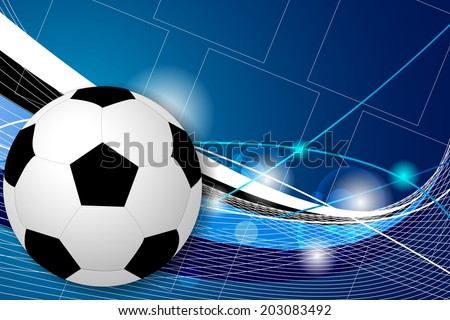 Soccer ball vector background, football/design for your computer desktop, print, diplomas with place for your content