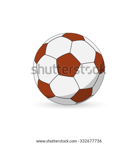 soccer ball vector icon flat style