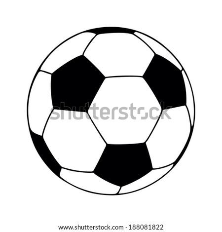 soccer ball, vector illustration - stock vector