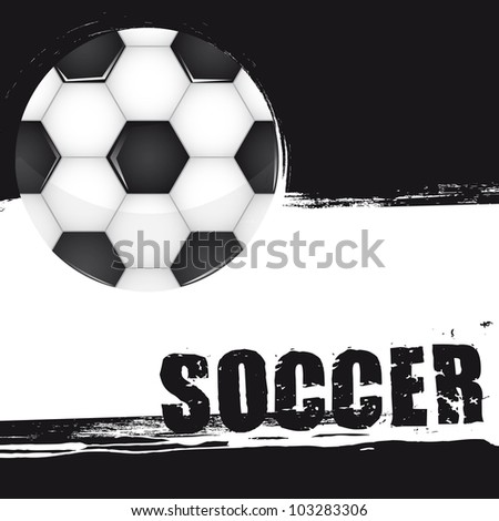 soccer ball with space for copy, grunge. vector illustration - stock vector