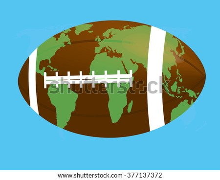 Soccer ball world map map drawn stock vector 377137372 shutterstock soccer ball with world map map drawn on a football gumiabroncs Images