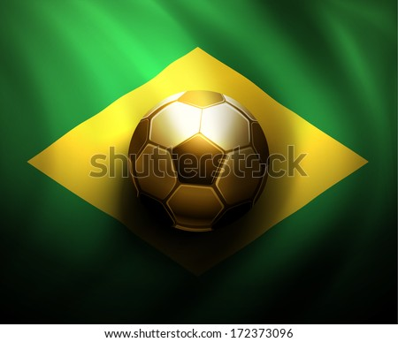 Soccer ball, world cup 2014. Eps 10 - stock vector