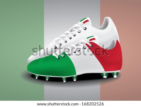 Soccer boot of Italy vector
