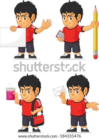 Soccer Boy Customizable Mascot 9 - stock vector