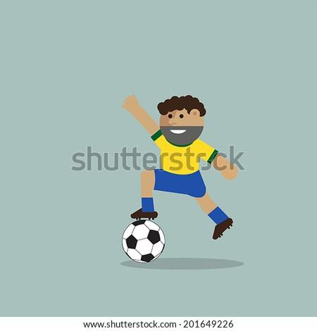 Soccer Brazil, vector illustration template design. - stock vector
